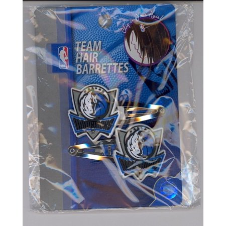 DALLAS MAVERICKS Logo Hair Barrettes Clips NBA Basketball Fan Keepsake NEW