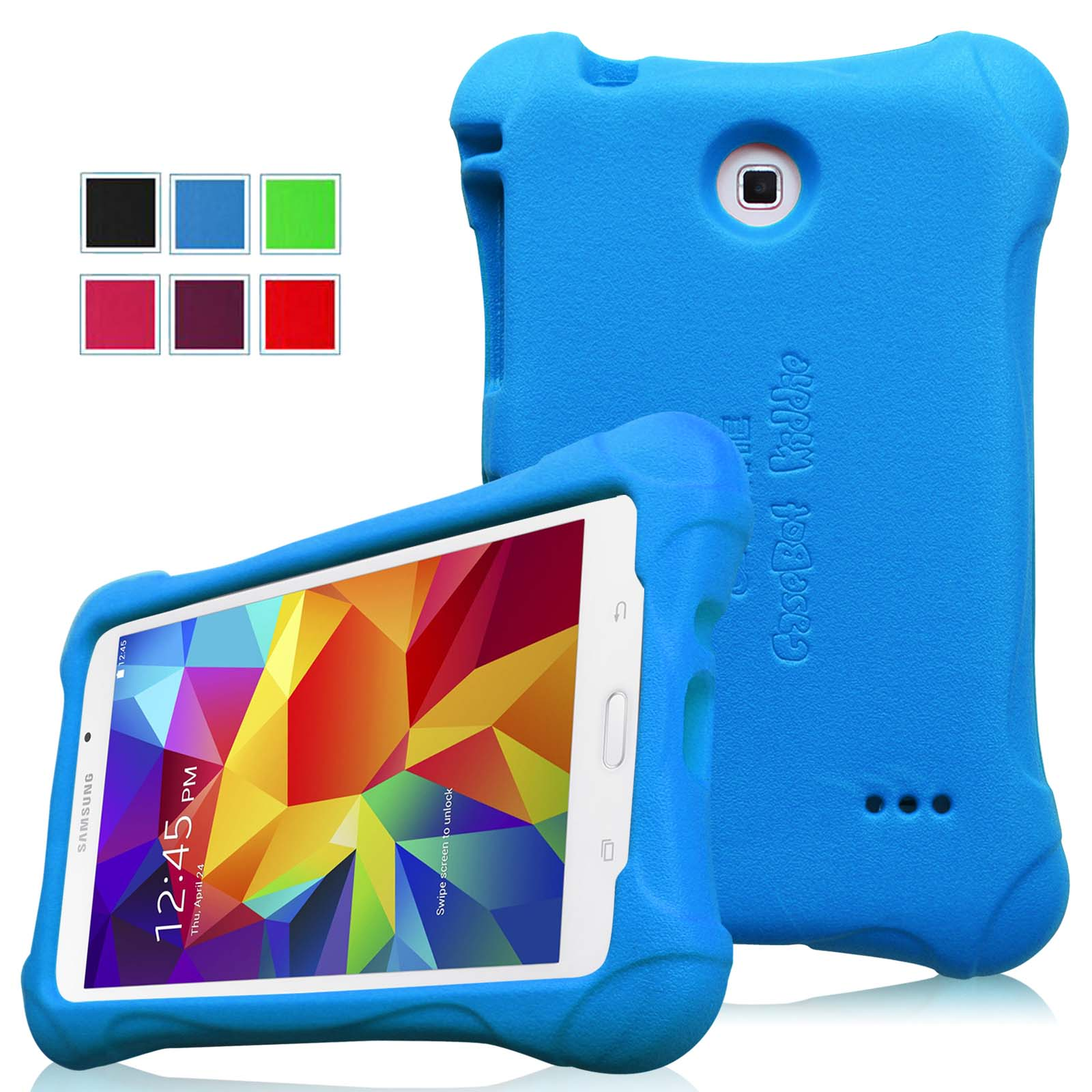 Fintie Samsung Galaxy Tab 4 7.0 Inch Kiddie Case - Ultra Light Weight Shock Proof Kids Friendly Cover, Blue