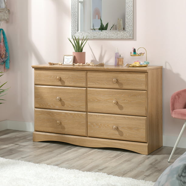 Sauder Storybook 6-Drawer Dresser, Dover Oak