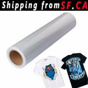 "24"" x 50ft / White Eco-Solvent Printable Heat Transfer PU Vinyl for Dark T-shirt"