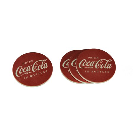 Coca-Cola Vintage Sign Round Stone Coaster Set of 4