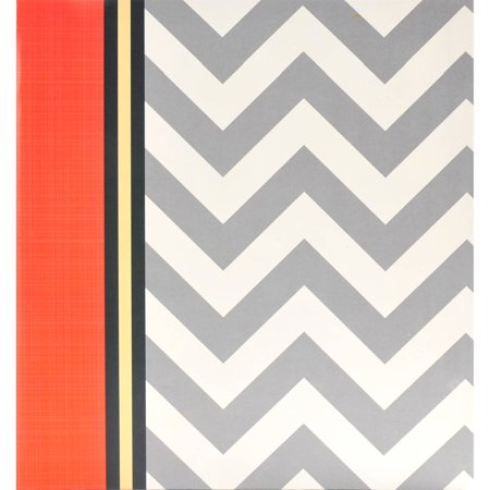 Pinnacle Grey Chevron Photo Album, 60 pages