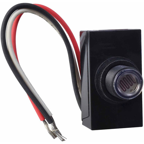 Woods Dusk to Dawn Button Style Photocell, 59408, Black