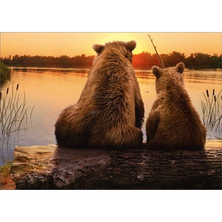 Avanti Press Father And Son Bears Fishing Father's Day Card - Father's Day Arts And Crafts