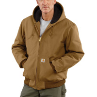 Carhartt Medium Regular Brown Quilted-Flannel Lined 12 Ou...