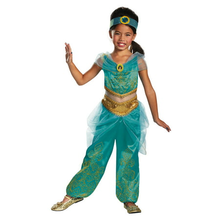 Jasmine From Aladdin Girls Deluxe Costume DIS59226 - 3T-4T (Jazmine Costume)
