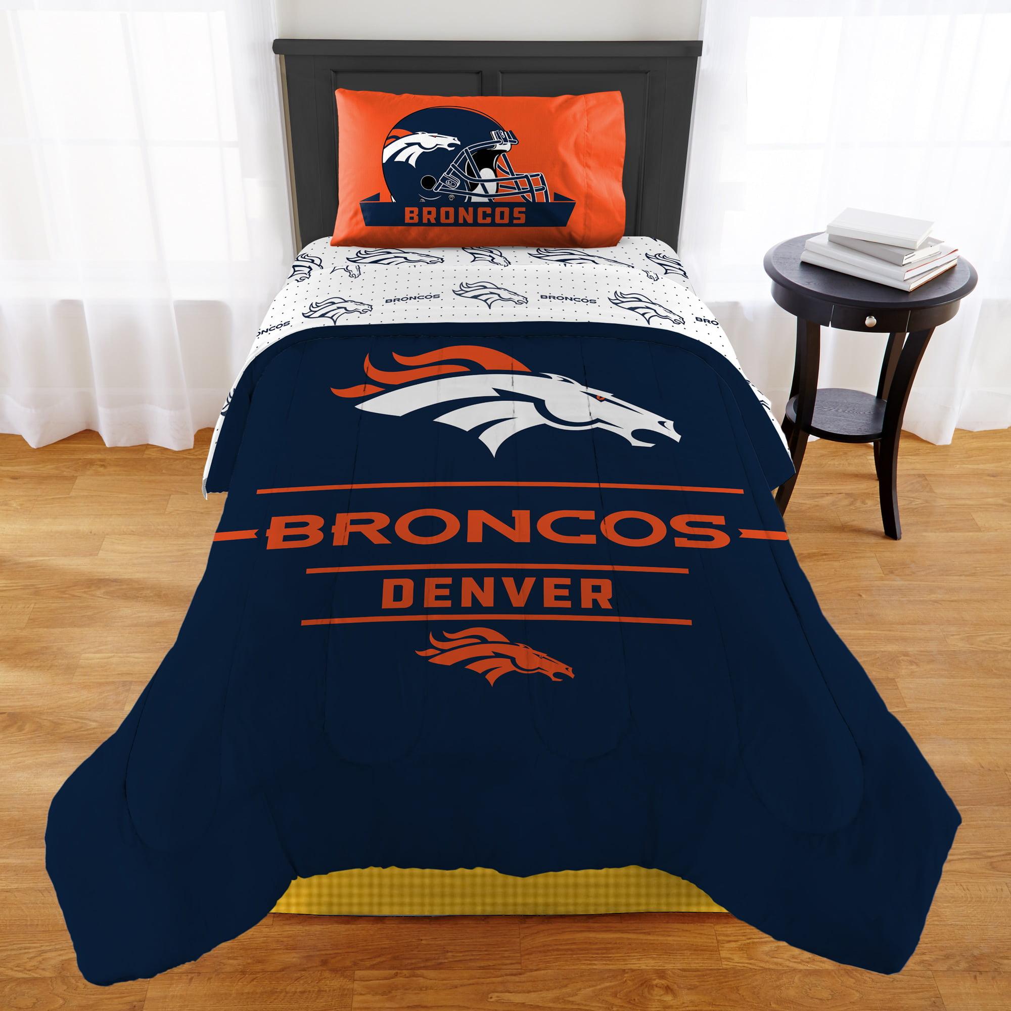 Nfl Denver Broncos Monument Twin Or Xl Comforter Set Walmart Com Walmart Com