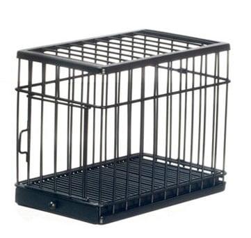 Dollhouse Large Dog Cage, Black