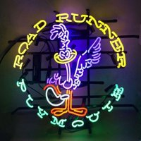 "Desung Brand New Road Runner Super Bird Plymouth Neon Sign Lamp Glass Beer Bar Pub Man Cave Sports Store Shop Wall Decor Neon Light 24""x 20"" WML12"