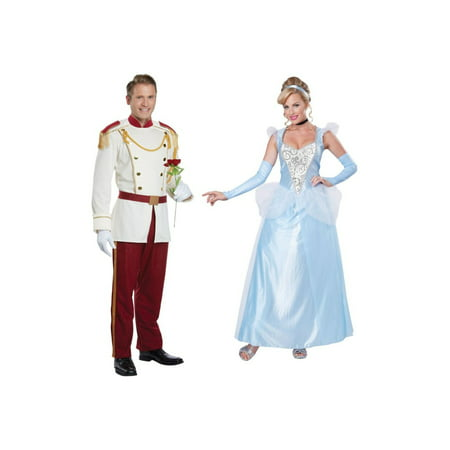 Prince Charming Men Costume and Cinderella Women Costume (Prince Charming And Cinderella Costumes)