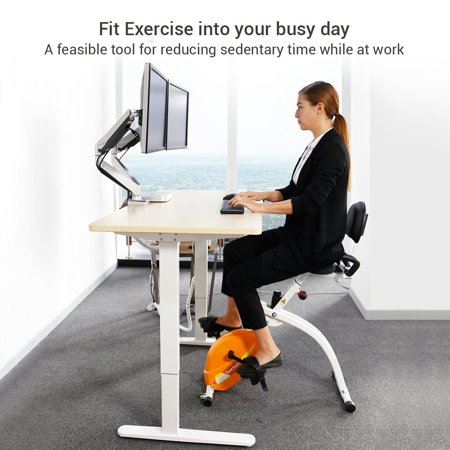 Loctek U1 Under Desk Bike Upright Stationary Foldable Exercise