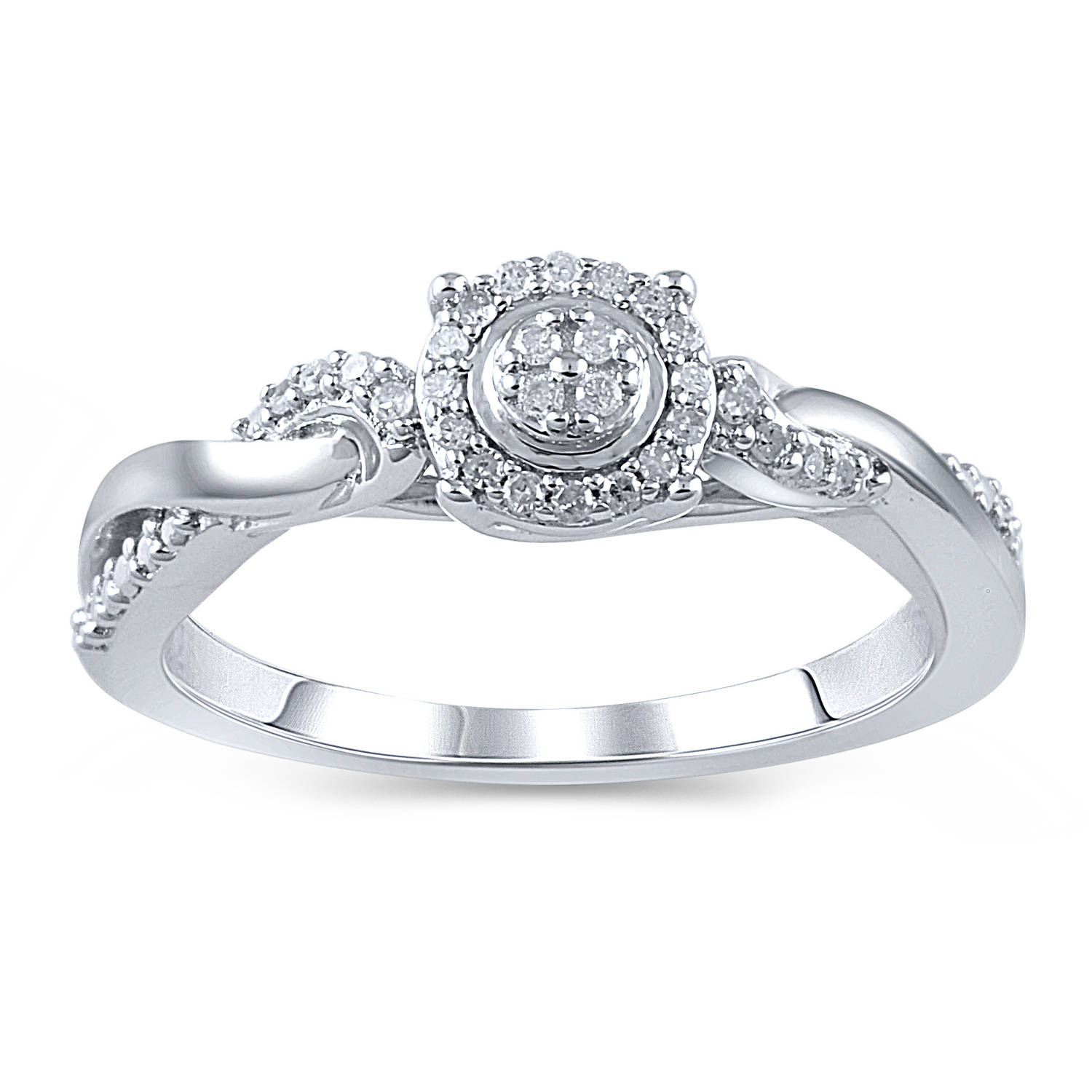 hold my hand 1 10 carat t w diamond sterling silver promise ring
