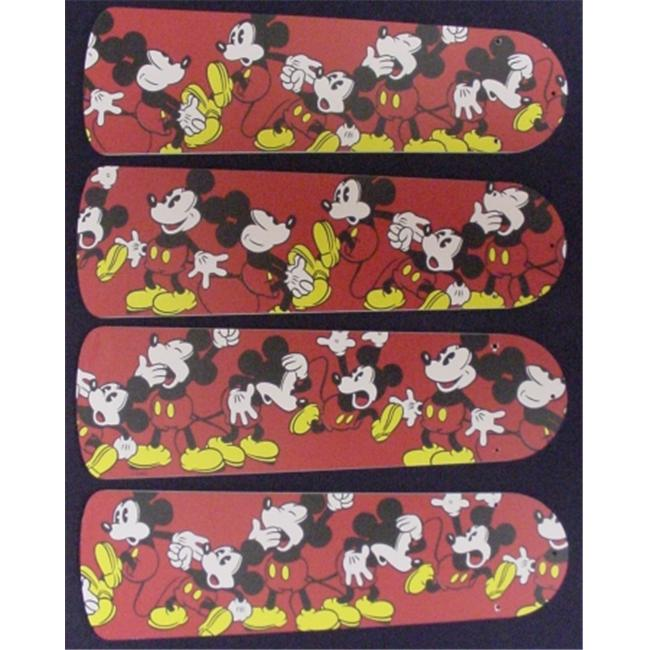 Ceiling Fan Designers 42SET-DIS-DMM Disney Mickey Mouse no. 1 42 inch Ceiling Fan Blades Only