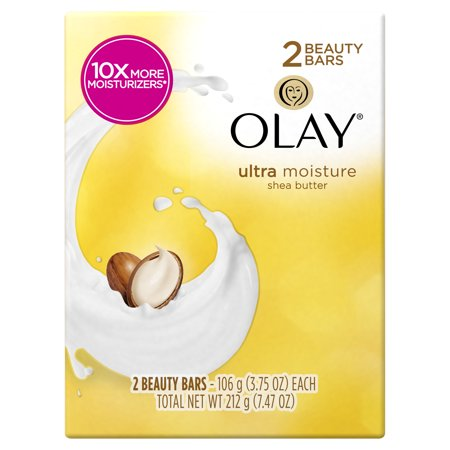 Olay Moisture Outlast Ultra Moisture Shea Butter Beauty Bar 3.75 oz, 2 count
