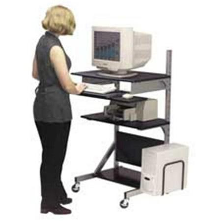 Balt Metal Workstation - Balt- Inc. BLT42551 Adjustable Workstation- 30in.x24in.x27in.-52in.- Black-Silver Frame