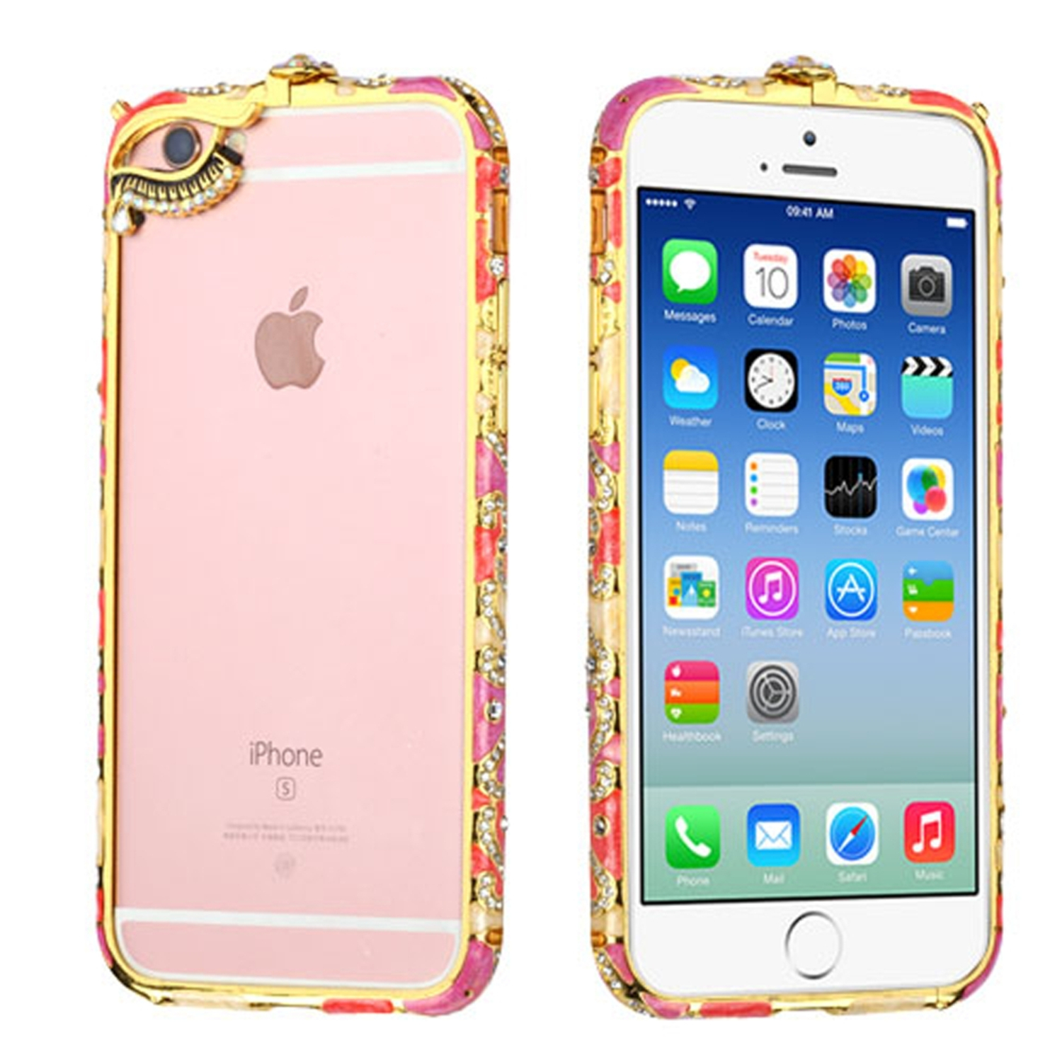 Insten Hard Rubber Bumper w/Diamond For Apple iPhone 6 / 6s - Colorful