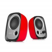 edifier r12u stereo computer bookshelf speakers - red