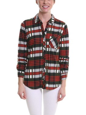 55a9fbbc2cc Product Image Pier 17 Women s Button Down Shirts Tailored 3 4 Sleeve Shirt