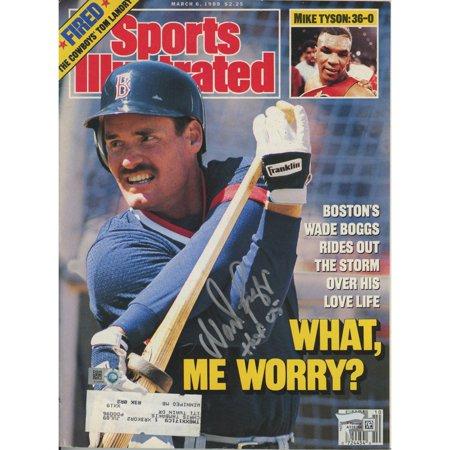 1980 Sports Illustrated Magazine - Wade Boggs Boston Red Sox Autographed 1989 Sports Illustrated Magazine with HOF 05 Inscription - Fanatics Authentic Certified