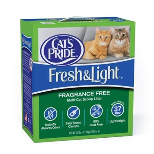 Cat's Pride Fresh & Light Fragrance-Free Scoopable Cat Litter, 28 lb