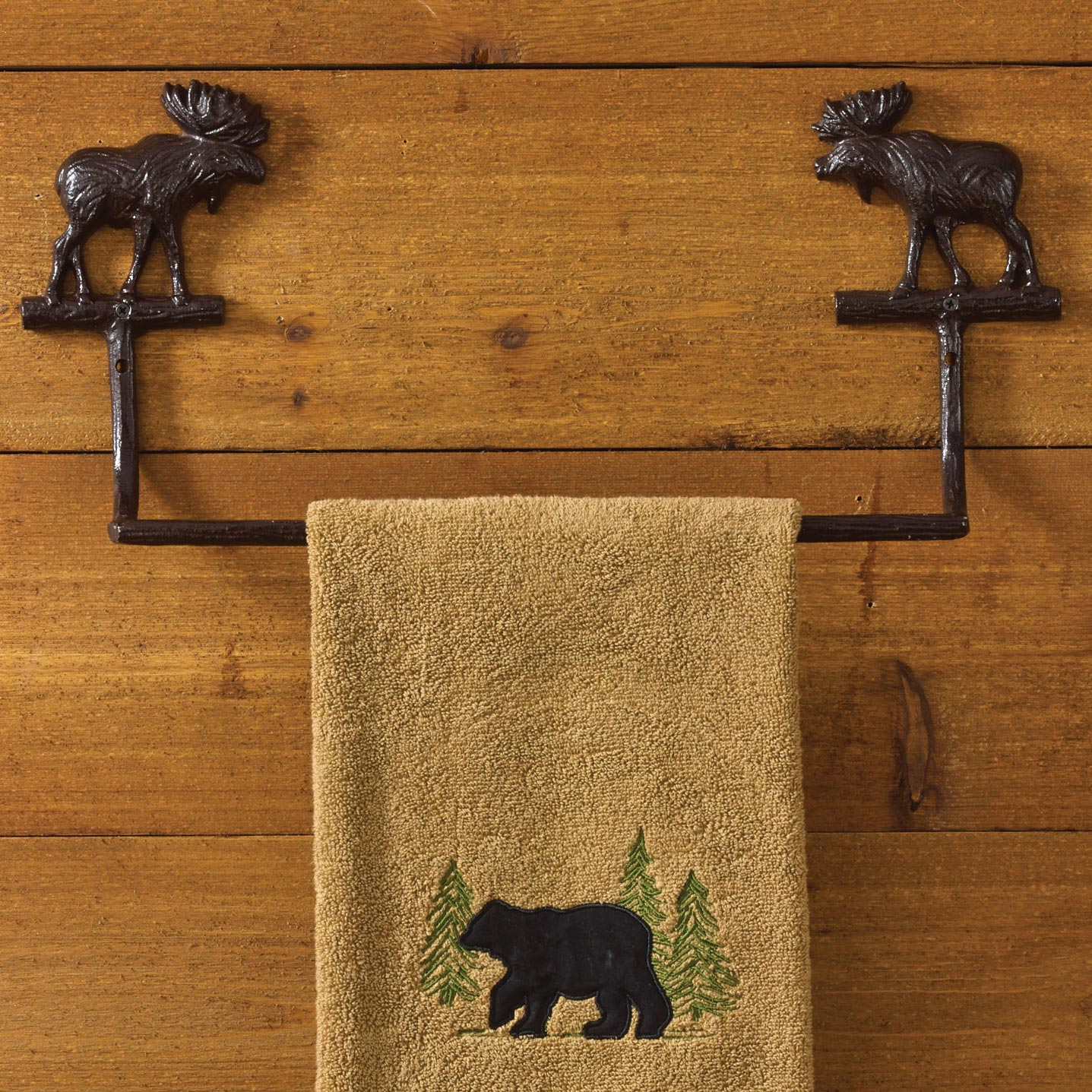 Cast Moose 16 Inch Towel Bar