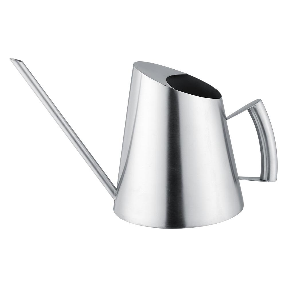 1.5L Stainless Steel Watering Can Garden Plant Flower Long Mouth Sprinkling Pot
