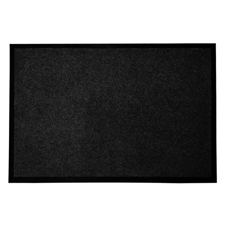 casa pura® Entrance Floor Mat | Absorbent & Non-slip | for Indoor & Outdoor Use - Black - 36''x60''