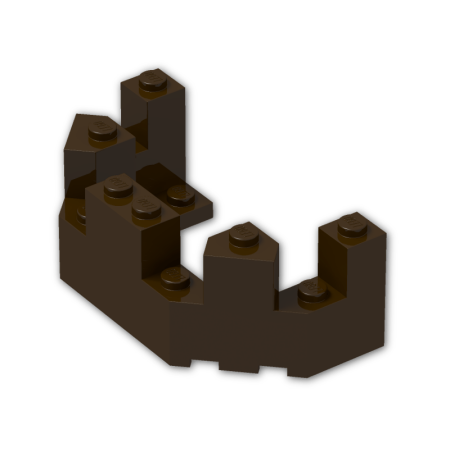 Brick Building Parts Original LEGO® Parts: #6066 Castle Roof Turret Top 4 x 8 x 2 1/3 (Pack of 4) (Dark Brown)