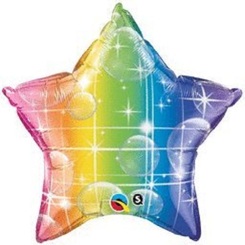 "Lot of 10 Rainbow Star Shape Foil Mylar 19"" Balloon Birthday Party Decoration"