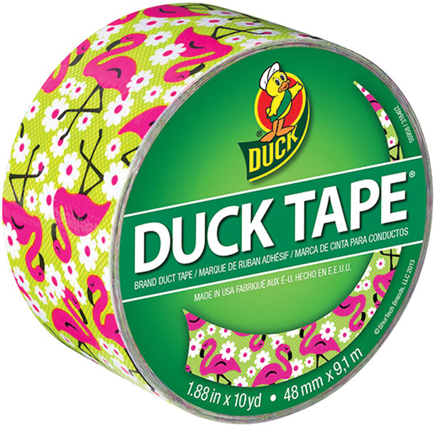 "Patterned Duck Tape 1.88""X10yd-Flamingo"