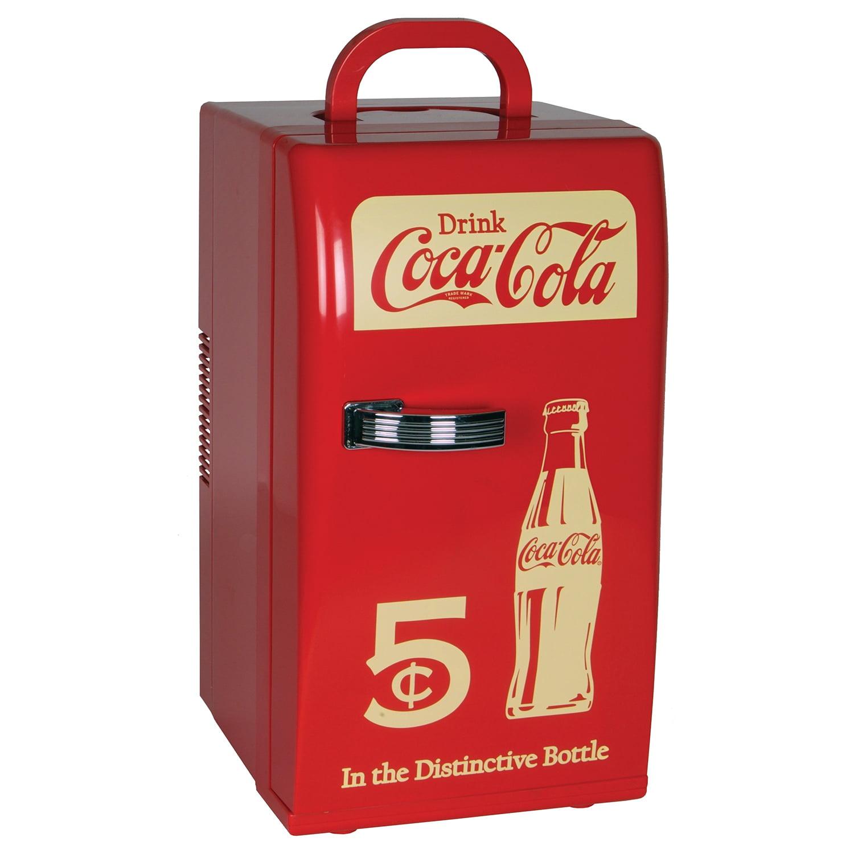 Koolatron CCR-12 Coca Cola Retro 0.8 Cu. Ft. Mini Fridge Red