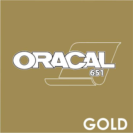 ORACAL 651 Vinyl Roll of Glossy Gold - Includes Free Multi-Purpose Squeegee - Choose Your Size