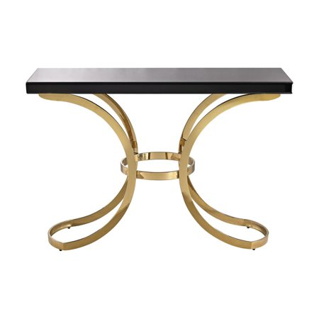 Dimond Beacon Towers Console Table Gold Plate Black