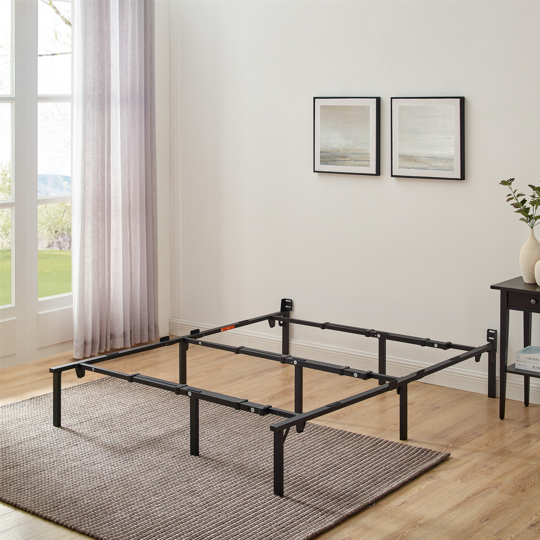 Mainstays 12 Adjustable Metal Bed Frame Black Twin King Walmart Com Walmart Com