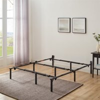 """Mainstays 12"""" Low Profile Adjustable Metal Bed Frame  Multiple colors, Twin - King"""