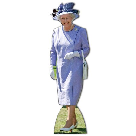 Star Cutouts Queen Elizabeth (Lilac Dress) Cardboard Cutout Life Size Standup