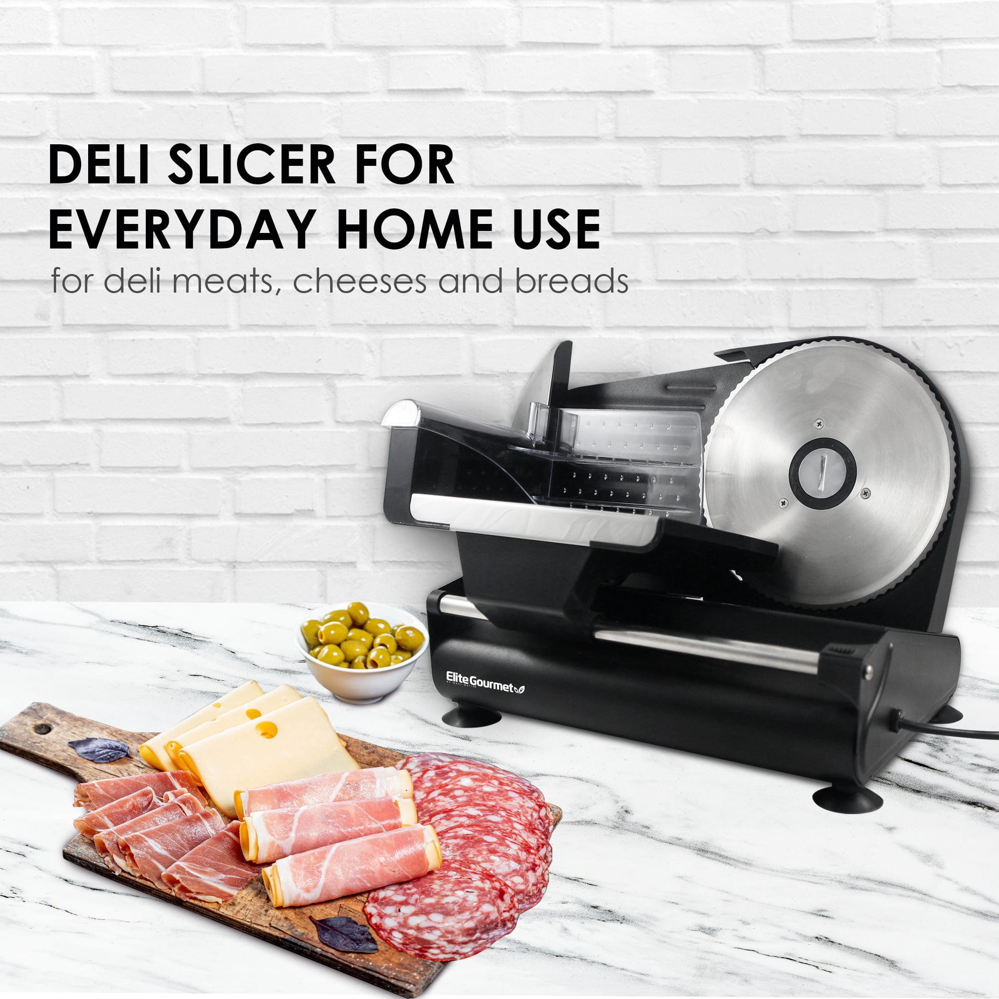 Elite Platinum EMT-625B Ultimate Precision Electric Deli Food Meat Slicer