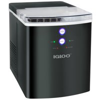 Igloo ICEB33BS Large-Capacity Automatic Portable Electric Countertop Ice Maker Machine, 33 Pounds in 24 Hours, 9 Ice Cubes Ready in 7 minutes, With Ice Scoop and Basket