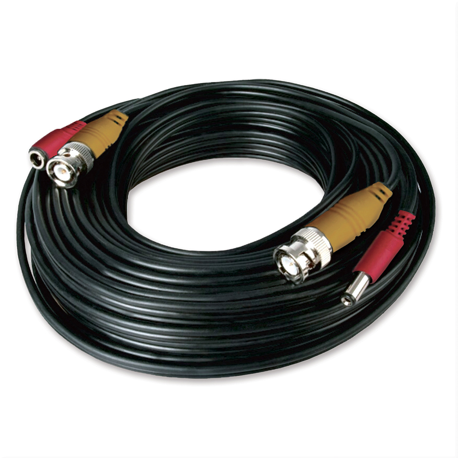 Night Owl CAB-60BP: 60 ft. BNC Video/Power Camera Extension Cable with Adapter