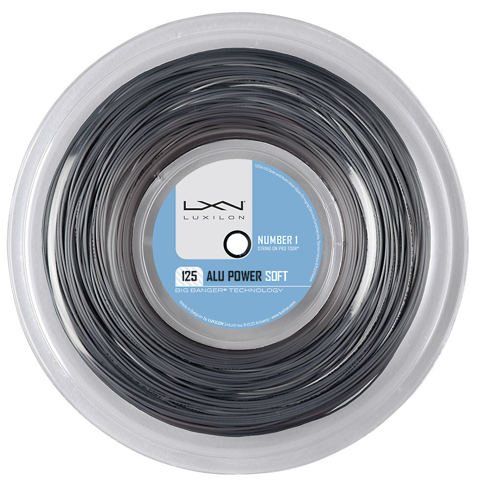 ALU Power Soft 16L Tennis String Reel Silver by