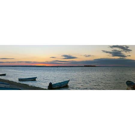 Pangas fishing boats on beach, La Paz, Baja California Sur, Mexico Print Wall