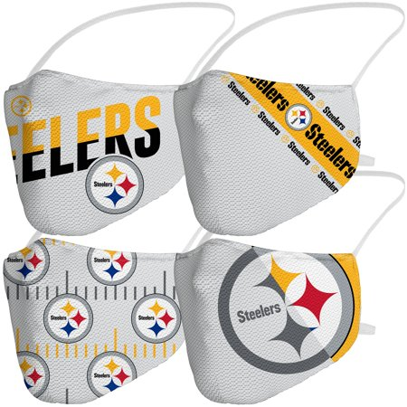 Pittsburgh Steelers Fanatics Branded Adult Variety Face Covering 4-Pack