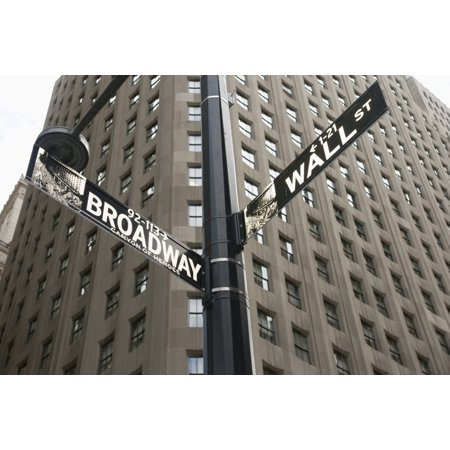 Signs For Broadway And Wall Street - Broadway Signs