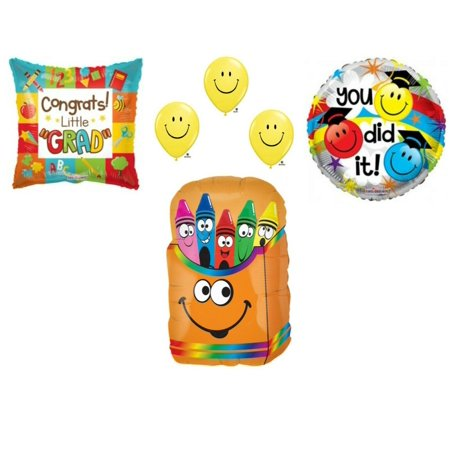 Preschool Kindergarten Graduation Crayons Party Balloons Decoration Supplies](High School Graduation Parties)