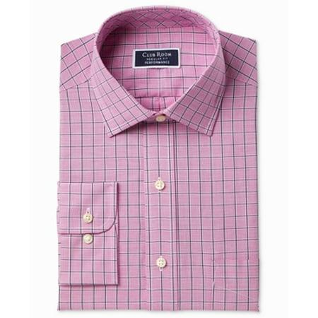 Mens Regular Windowpane Dress Shirt 16 1/2 (Windowpane Dress Shirt)