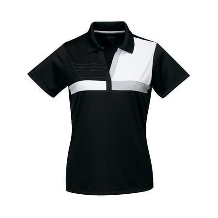 Womens Premium No-Buttons Bowling Shirt - Black/White, Medium (Storm Bowling Shirts)