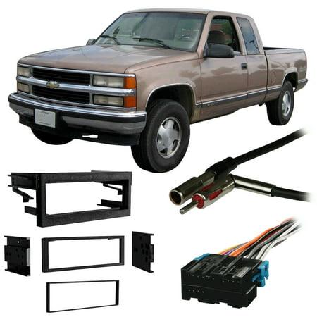 1983 Toyota Pickup Dash (Fits Chevy CK Pickup 95-00 Single DIN Stereo Harness Radio Install Dash Kit )