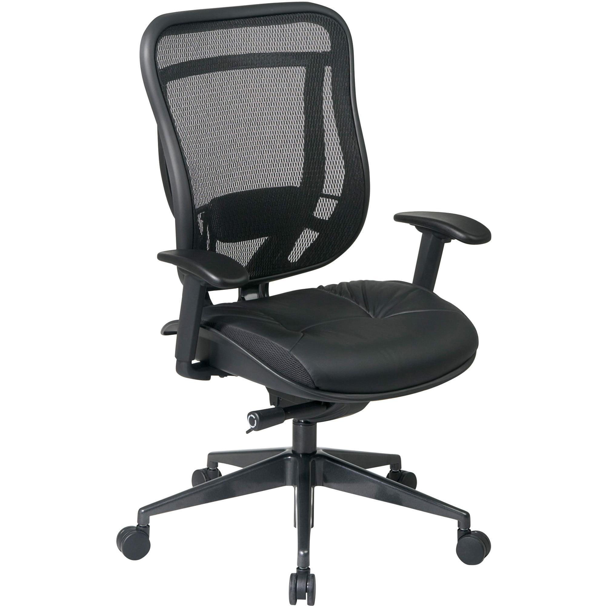 Office Star, OSP81841G9C18P, Mesh Back Executive Chair, 1 Each, Black
