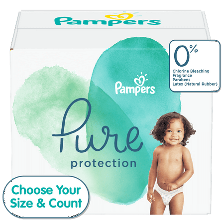 Pampers Pure Protection Natural Diapers, Size 5, 132 ct