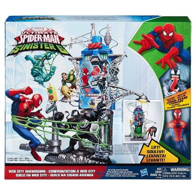 Hasbro HSBB7198 Spiderman Web City-Daily Bugle Battle, Pack of 3 by